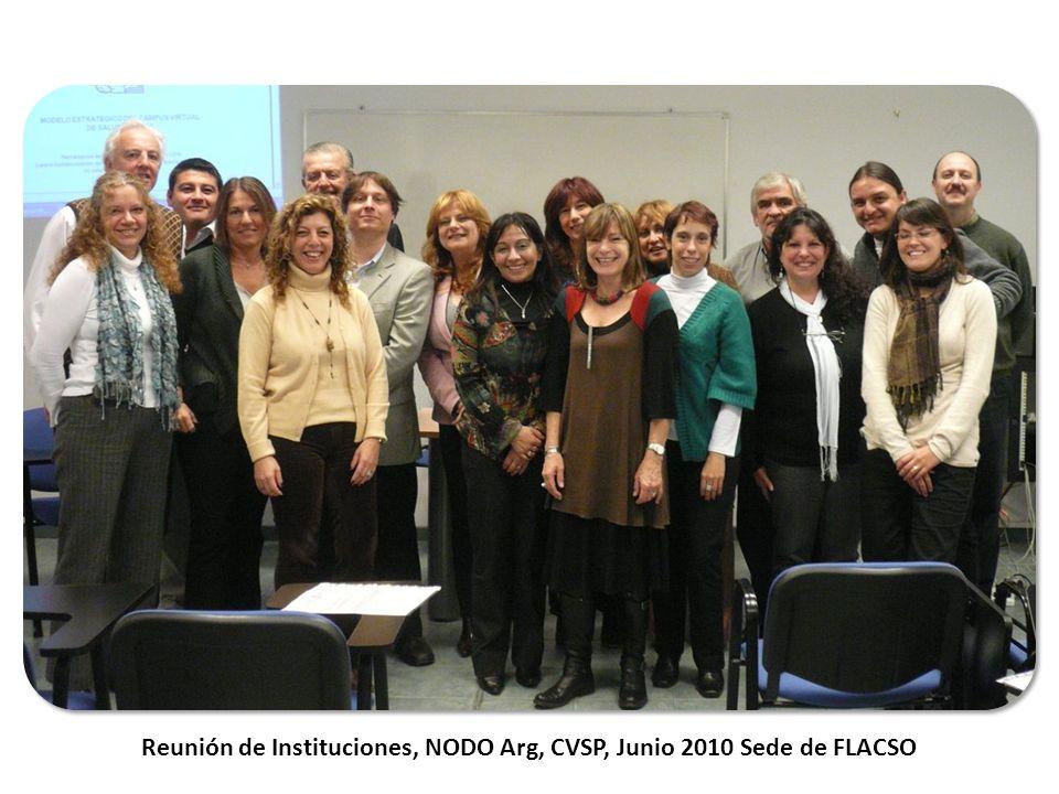 Reunión de Instituciones, NODO Arg, CVSP, Junio 2010 Sede de FLACSO