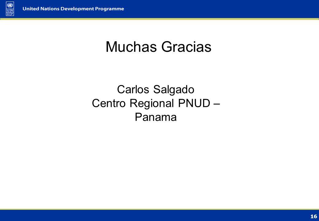 15 Resultados esperados de proyectos futuros desarrollados por PNUD utilizando múltiples fuentes de financiamiento Sobrepasar las barreras institucionales y de desarrollo de capacidades para integrar LECRDS en sectores clave.