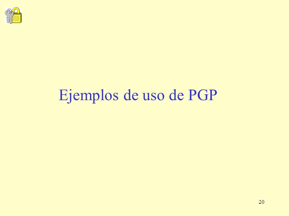 20 Ejemplos de uso de PGP