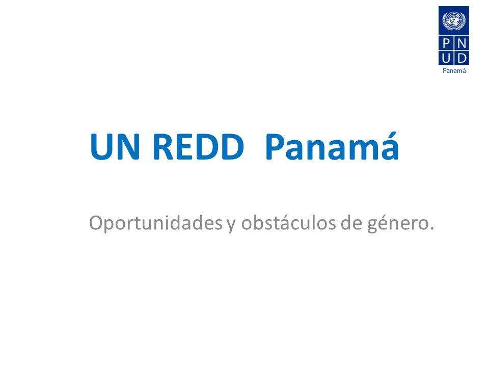 UN REDD Panamá Oportunidades y obstáculos de género.