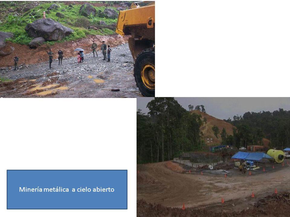 Minería metálica a cielo abierto
