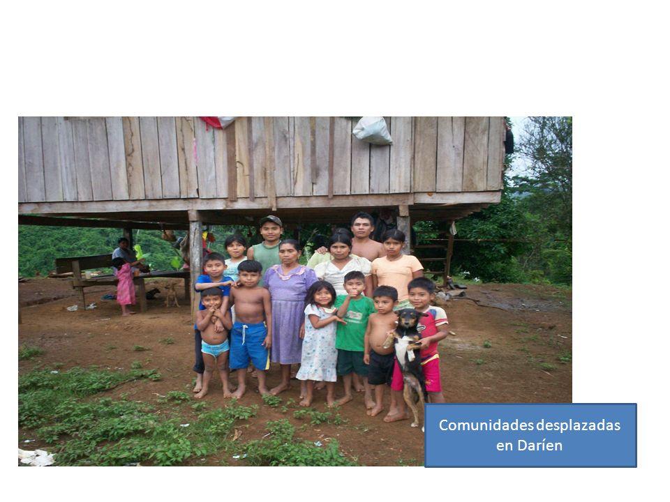 Comunidades desplazadas en Daríen