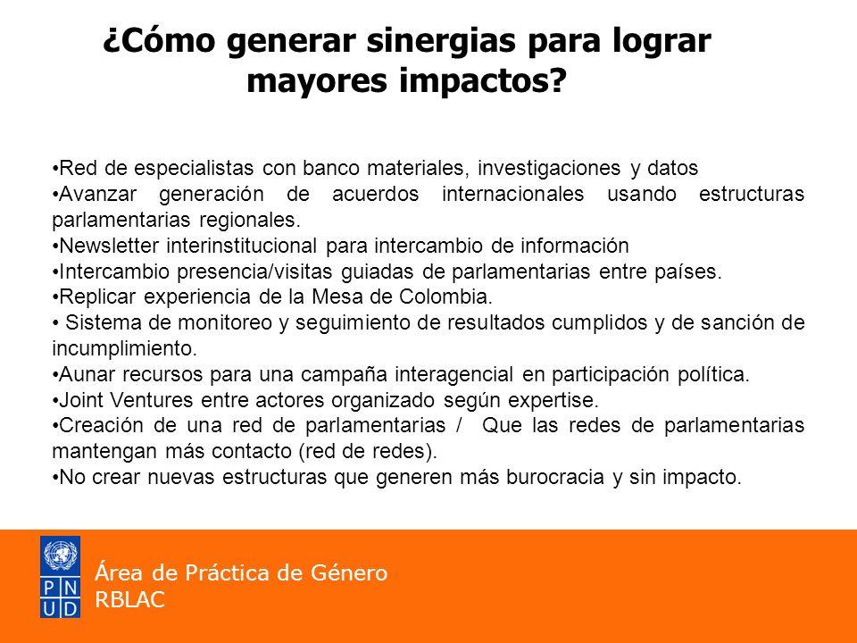 ¿Cómo generar sinergias para lograr mayores impactos? Red de especialistas con banco materiales, investigaciones y datos Avanzar generación de acuerdo
