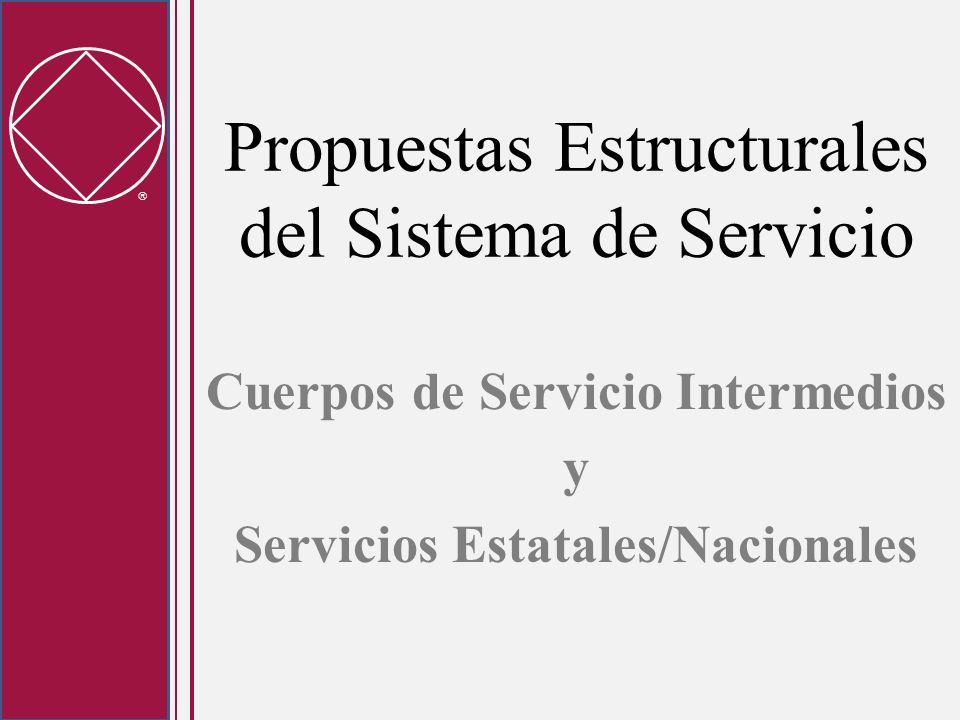 Propuestas Estructurales del Sistema de Servicio Cuerpos de Servicio Intermedios y Servicios Estatales/Nacionales