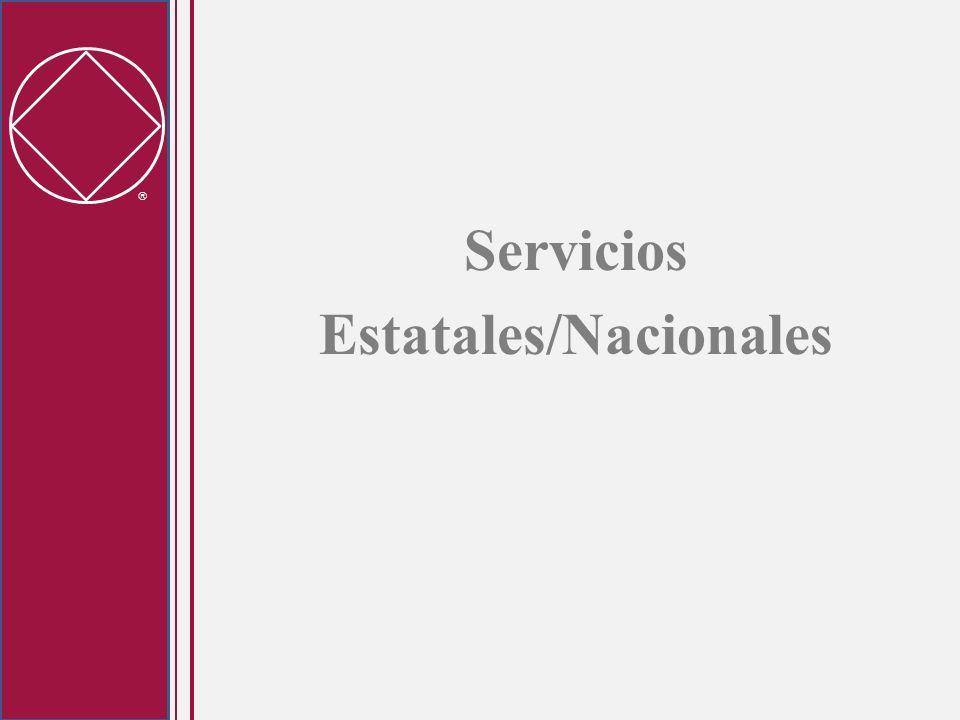 Servicios Estatales/Nacionales