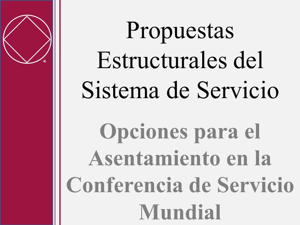 Propuestas Estructurales del Sistema de Servicio Opciones para el Asentamiento en la Conferencia de Servicio Mundial