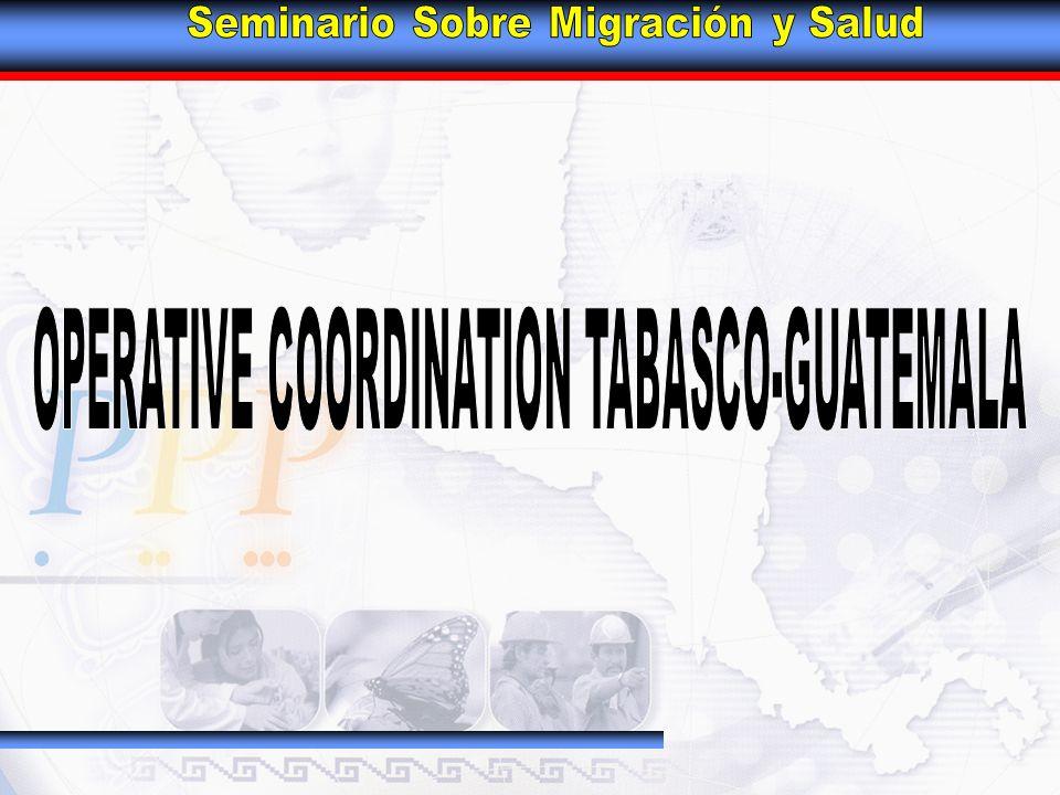 MEETINGS OF AUTHORITIES TABASCO, MEXICO – PETÉN, GUATEMALA.
