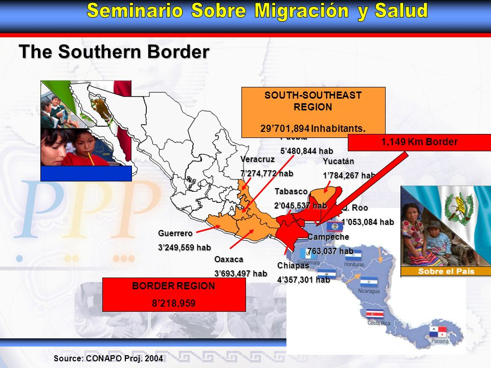 The Southern Border Source: CONAPO Proj.