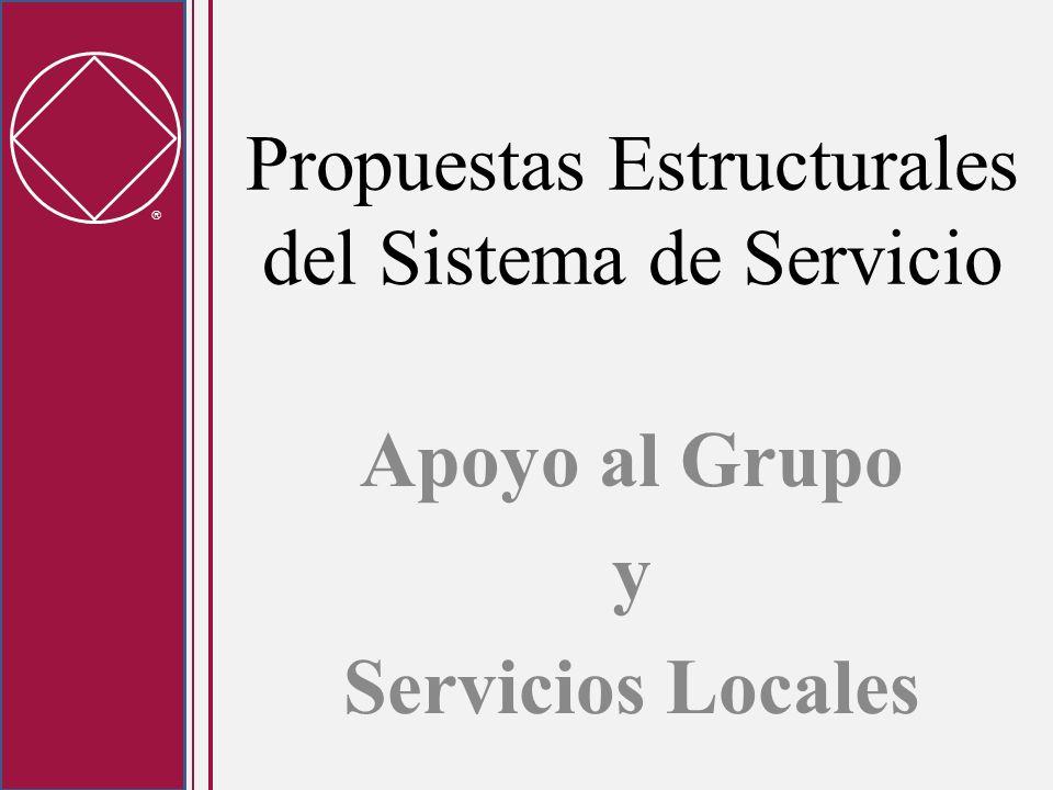 Propuestas Estructurales del Sistema de Servicio Apoyo al Grupo y Servicios Locales