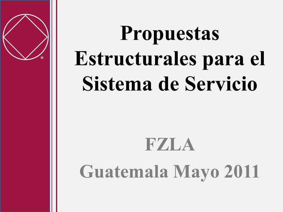 Propuestas Estructurales para el Sistema de Servicio FZLA Guatemala Mayo 2011