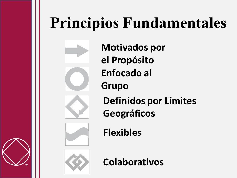 Principios Fundamentales Motivados por el Propósito Flexibles Definidos por Límites Geográficos Enfocado al Grupo Colaborativos