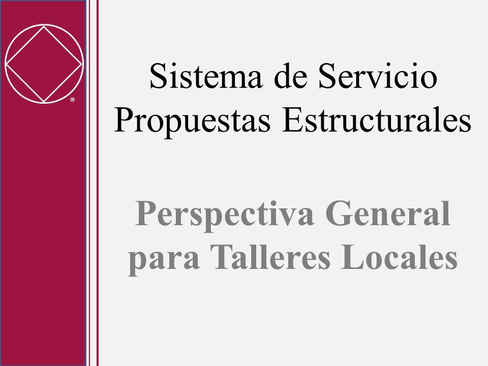 Sistema de Servicio Propuestas Estructurales Perspectiva General para Talleres Locales
