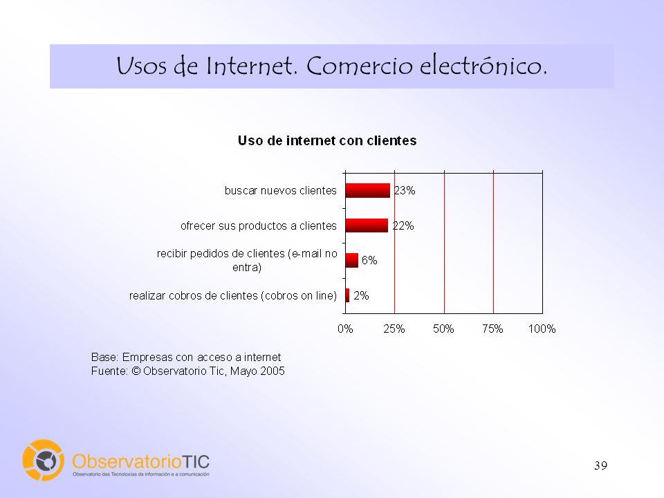 40 Usos de Internet. Comercio electrónico.