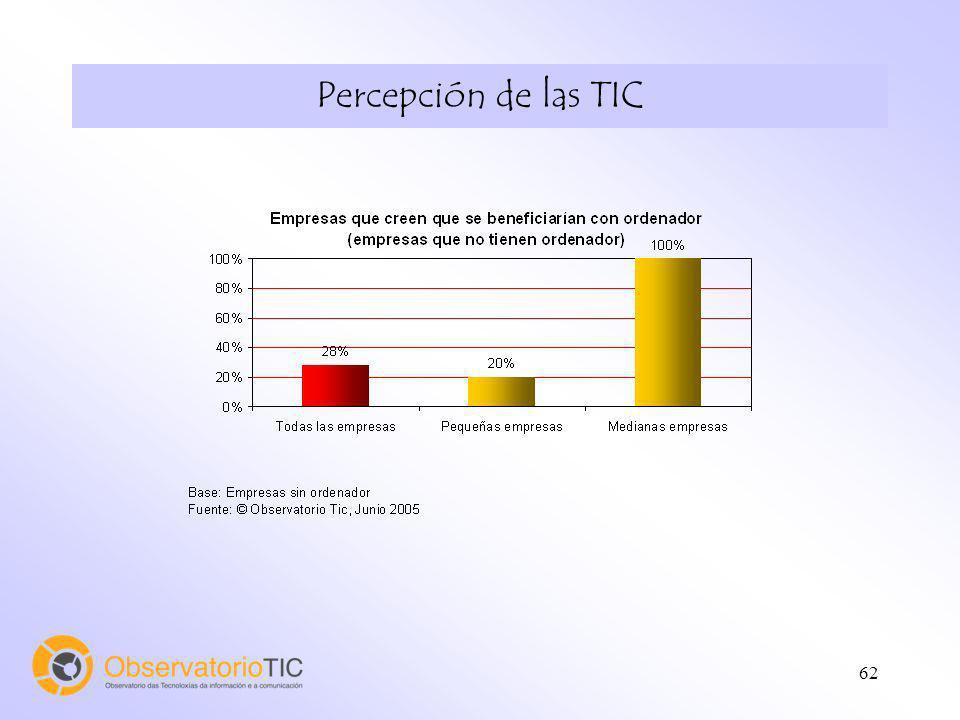 62 Percepción de las TIC