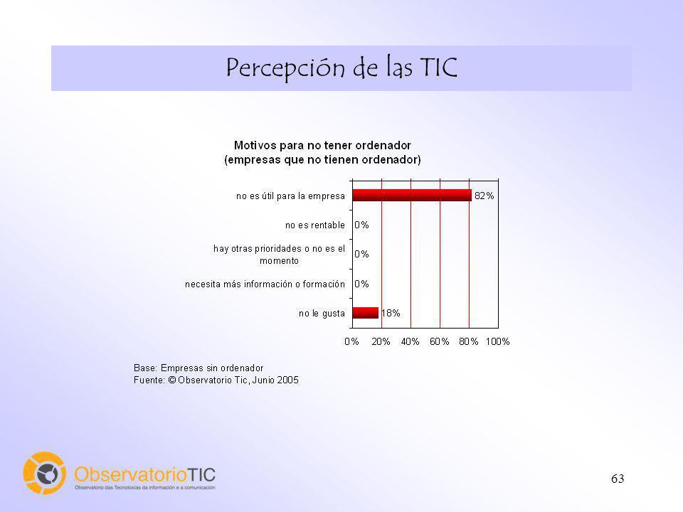 63 Percepción de las TIC