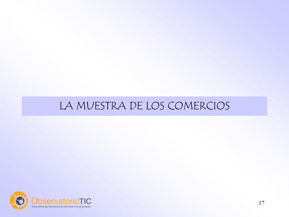 37 LA MUESTRA DE LOS COMERCIOS