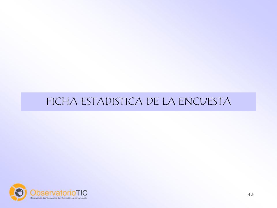 42 FICHA ESTADISTICA DE LA ENCUESTA