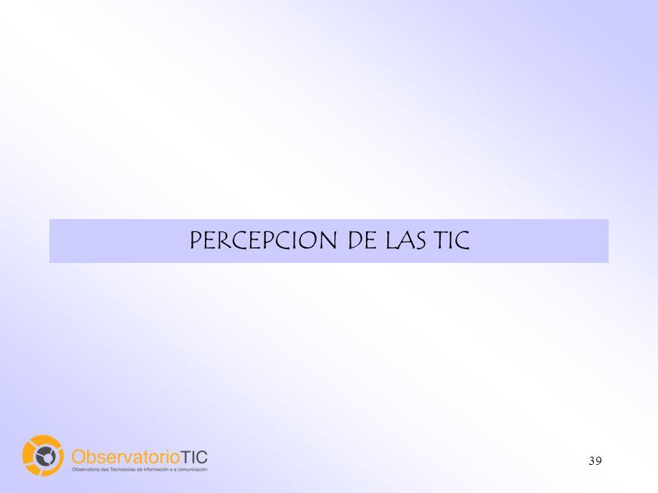 39 PERCEPCION DE LAS TIC