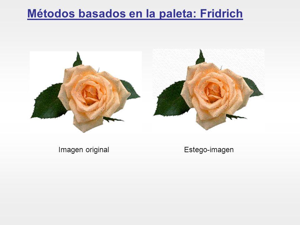 Métodos basados en la paleta: Fridrich Imagen originalEstego-imagen