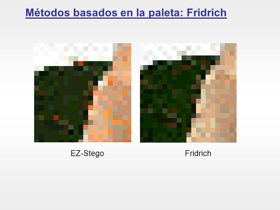 Métodos basados en la paleta: Fridrich EZ-Stego Fridrich