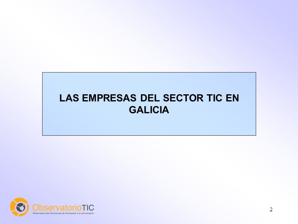 2 LAS EMPRESAS DEL SECTOR TIC EN GALICIA
