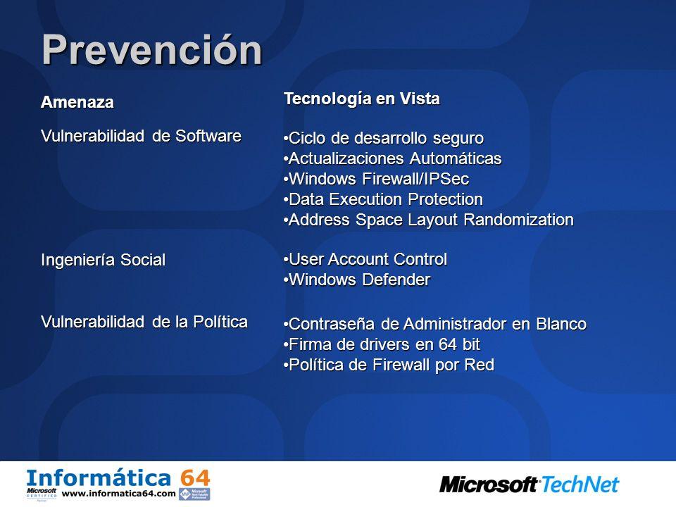 Como ayuda Vista Contra el Malware.. PrevenciónAislamientoRemedios