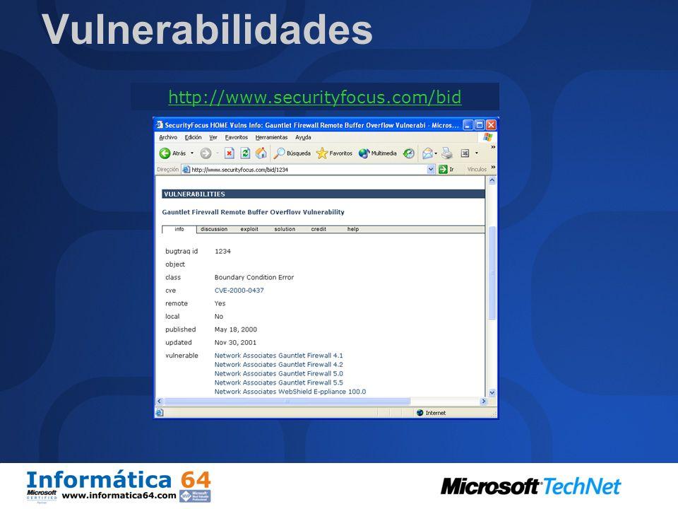 SlammerBugBearSlapperRamenKlezScalperNimdaCodeRedBlaster Lion Win32 Linux/Unix Nombre del Virus Número de dias transcurridos entre la publicación del