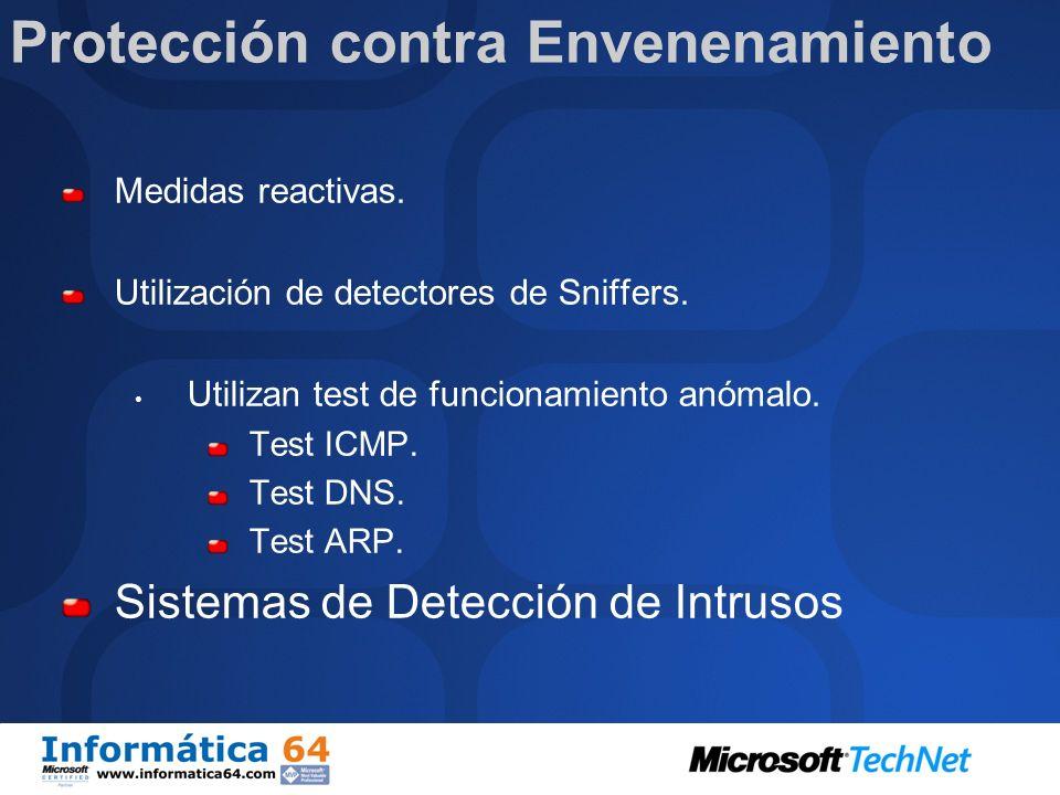 Protección contra Envenenamiento Medidas preventivas. Cifrado de comunicaciones. IPSec. Cifrado a nivel de Aplicación: S/MIME. SSL. Certificado de com