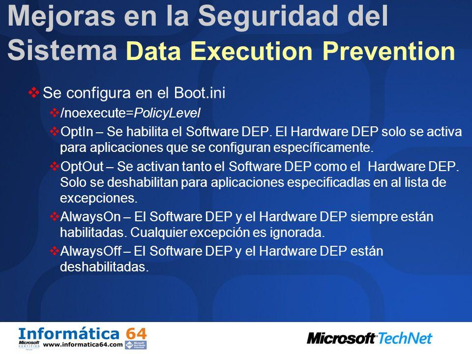 Se invoca después de: Actualización de Windows NT4 a Windows Server 2003 SP1 Instalación combinada de Windows Server 2003 y SP1 NO invocada después de