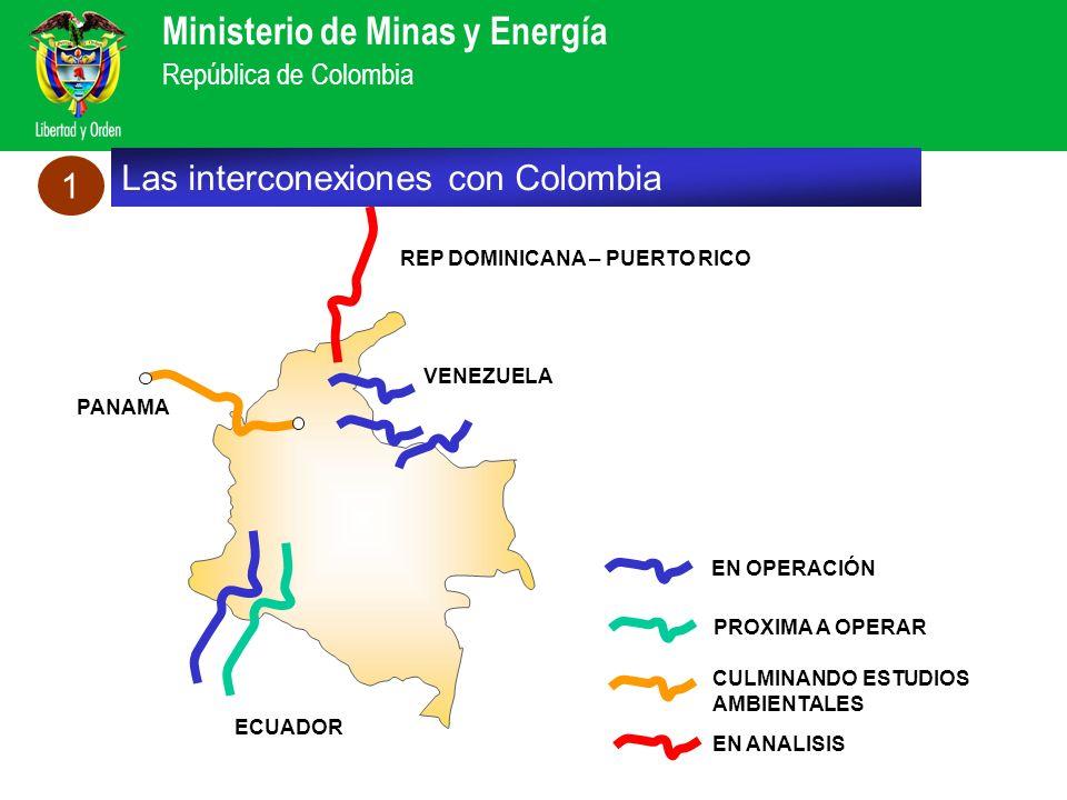 Ministerio de Minas y Energía República de Colombia EN OPERACIÓN PROXIMA A OPERAR CULMINANDO ESTUDIOS AMBIENTALES EN ANALISIS VENEZUELA ECUADOR PANAMA