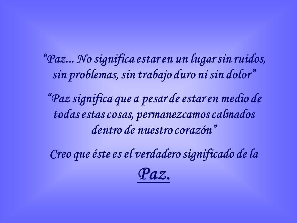 Paz...