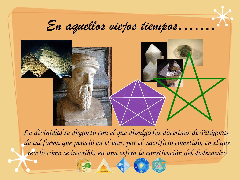 El primer teorema de clasificación Ninguna otra figura además de los cinco sólidos platónicos se puede construir si exigimos que sean cuerpos geométricos caracterizados por ser poliedros convexos cuyas caras son polígonos regulares iguales y en cuyos vértices se unen el mismo número de caras Suma de los ángulos de un vértice m(n-2)180/n<360 Solución=(3,3), (3,4), (3,5), (4,3), (5,3) m polígonos regulares de n lados que confluyen en un vértice