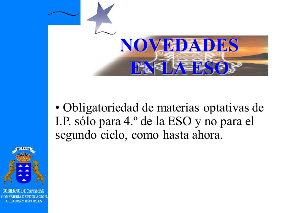 Obligatoriedad, recogida en el Decreto, de ofrecer Cultura Clásica en los dos cursos del 2.º ciclo. NOVEDADES EN LA ESO