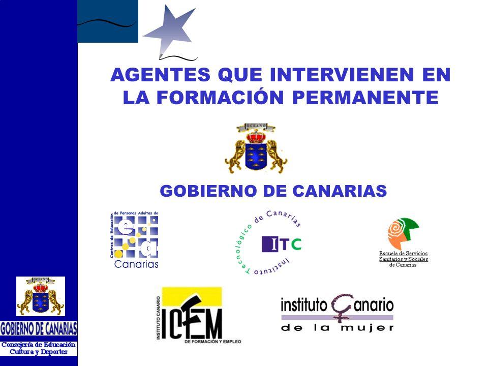 AGENTES QUE INTERVIENEN EN LA FORMACIÓN PERMANENTE GOBIERNO DE CANARIAS