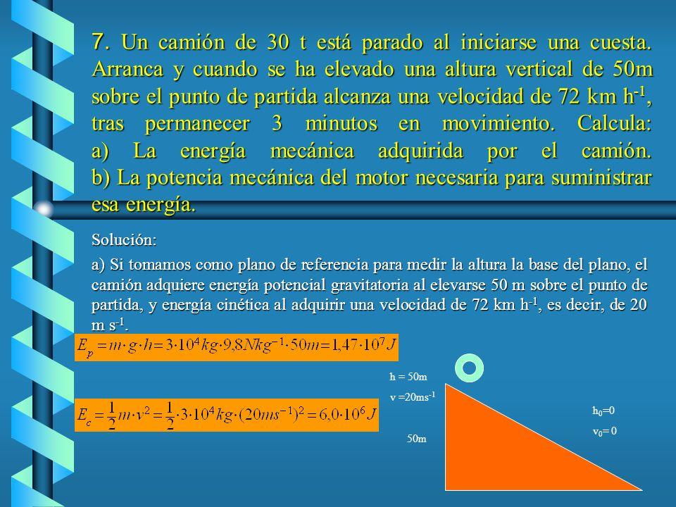 Solución. a) En la gráfica fuerza-desplazamiento, el valor del trabajo viene dado por el área sombreada de la figura. · Tramo OA: Se trata de calcular