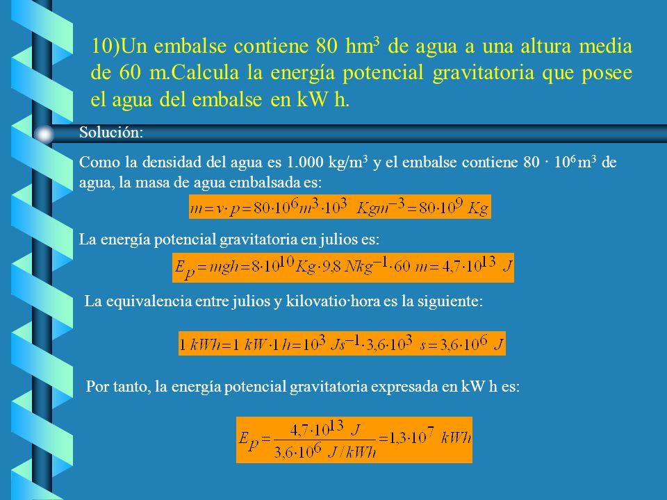 9. Un proyectil de 24g de masa atraviesa una plancha metálica de 2 cm de grosor. Su velocidad a la entrada era de 400m s -1 y a la salida de 120m s -1