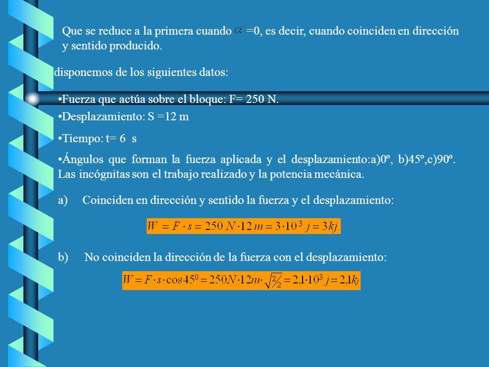 Solución: a)La fuerza que alarga el muelle es la fuerza del cuerpo: La constante elástica se obtiene a partir de la ley de Hooke: b) La energía potencial elástica almacena es: