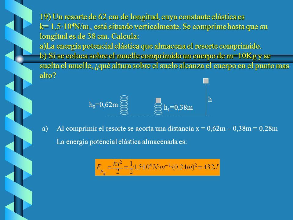 La energía potencial gravitatoria inicial es: La energía potencial gravitatoria final de la pelota es la siguiente La energía cinética final de la pel