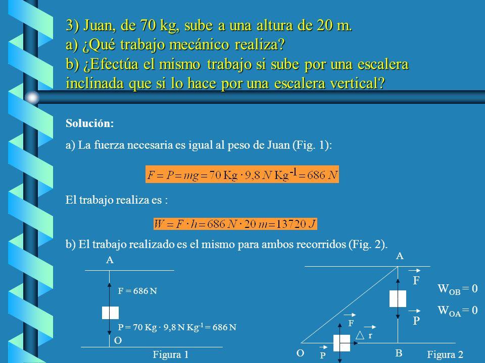 b)La energía mecánica inicial es la suma de la energía potencial elástica Toda esta energía se convierte en energía potencial gravitatoria del cuerpo cuando adquiere la altura h: