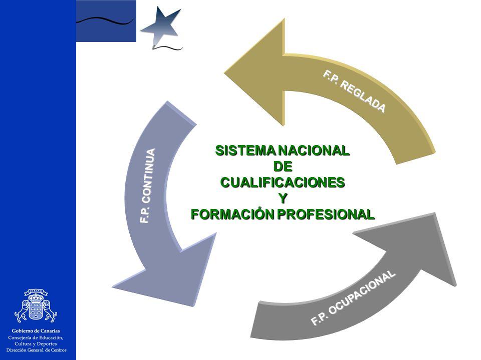SISTEMA NACIONAL DECUALIFICACIONESY FORMACIÓN PROFESIONAL F.P.