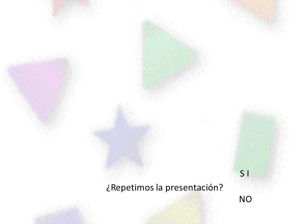 ¿Repetimos la presentación? S I NO
