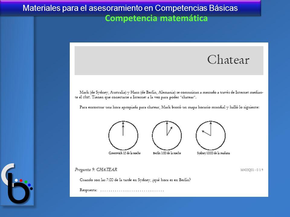 Materiales para el asesoramiento en Competencias Básicas Competencia matemática