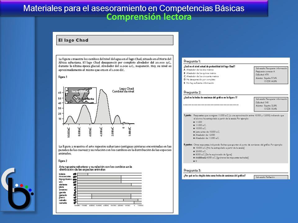 Materiales para el asesoramiento en Competencias Básicas Comprensión lectora