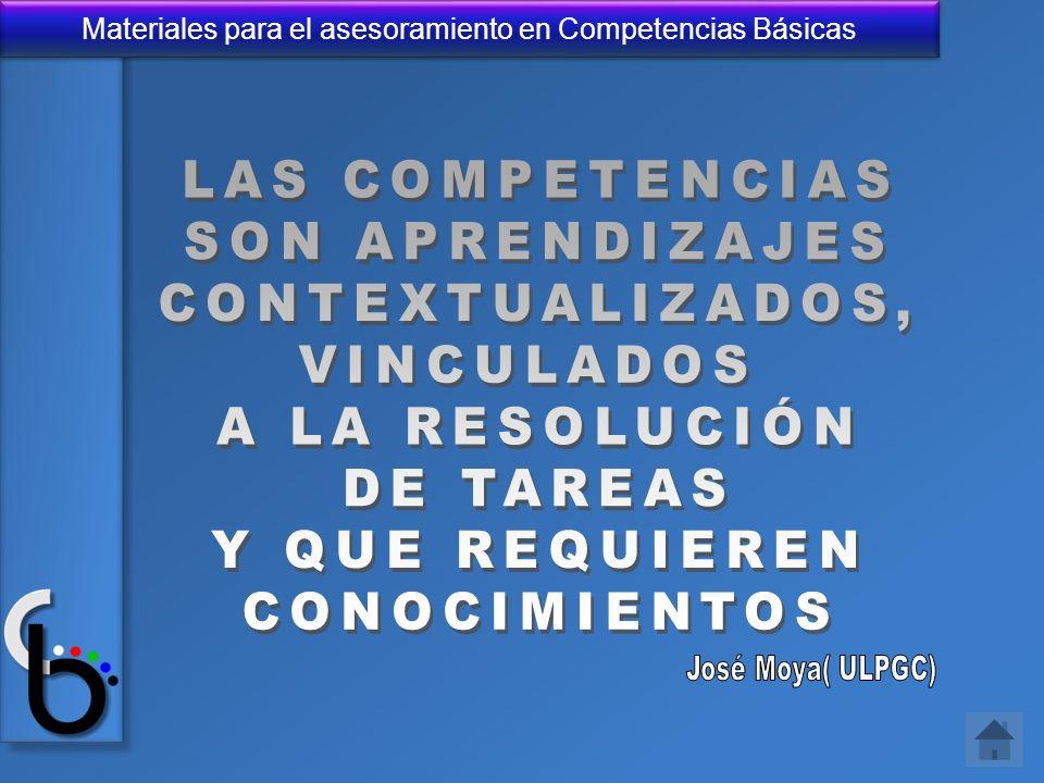 Materiales para el asesoramiento en Competencias Básicas