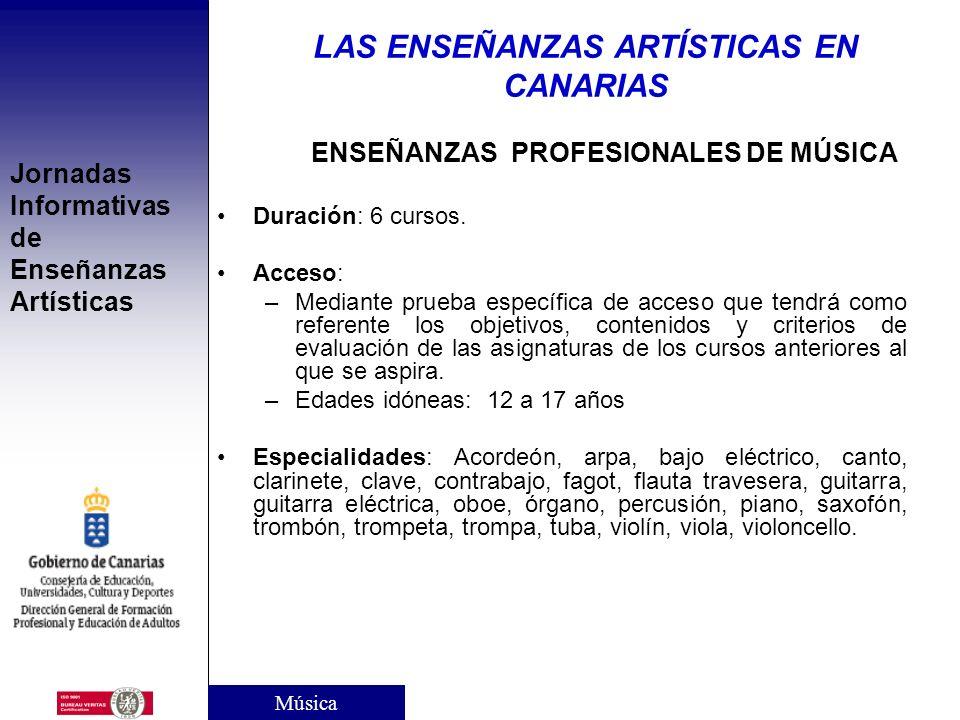 Jornadas Informativas de Enseñanzas Artísticas CENTROS DE ENSEÑANZA ELEMENTAL DE MÚSICA CENTROS PÚBLICOS: Gran Canaria: Conservatorio Profesional de M
