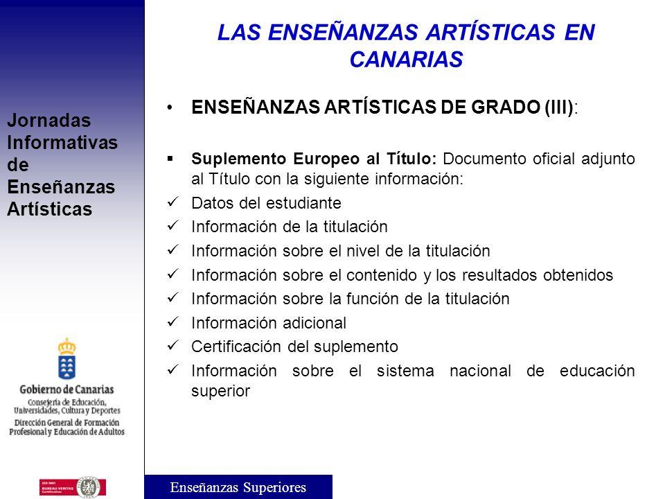 Jornadas Informativas de Enseñanzas Artísticas ENSEÑANZAS ARTÍSTICAS DE GRADO (II): Planes de Estudio: Las Administraciones educativas aprobarán el pl