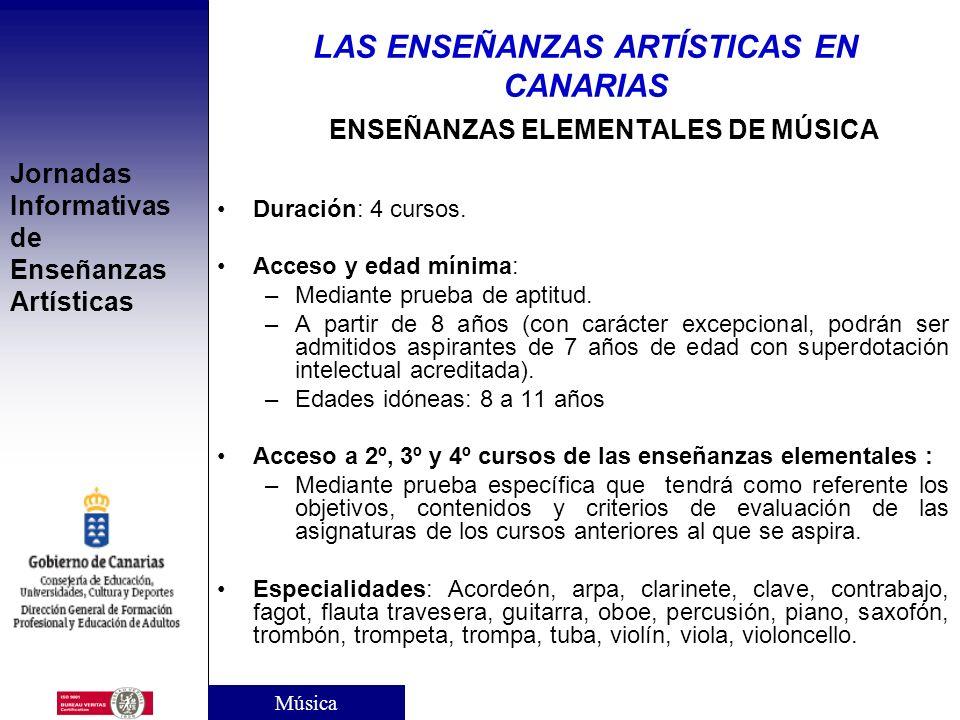 Jornadas Informativas de Enseñanzas Artísticas CARACTERÍSTICAS Carácter: Especializado y profesional Finalidad: Formar a profesionales altamente cuali