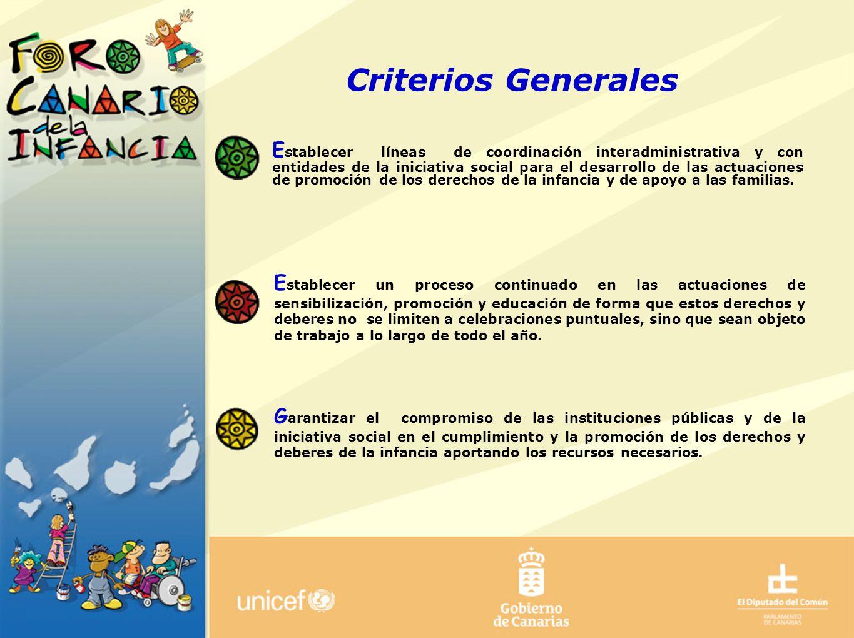 ANTECEDENTES CRITERIOS GENERALES OBJETIVOS GENERALES OBJETIVOS ESPECÍFICOS PROCESO DÍA INTERNACIONAL DE LA INFANCIA Criterios Generales E stablecer lí