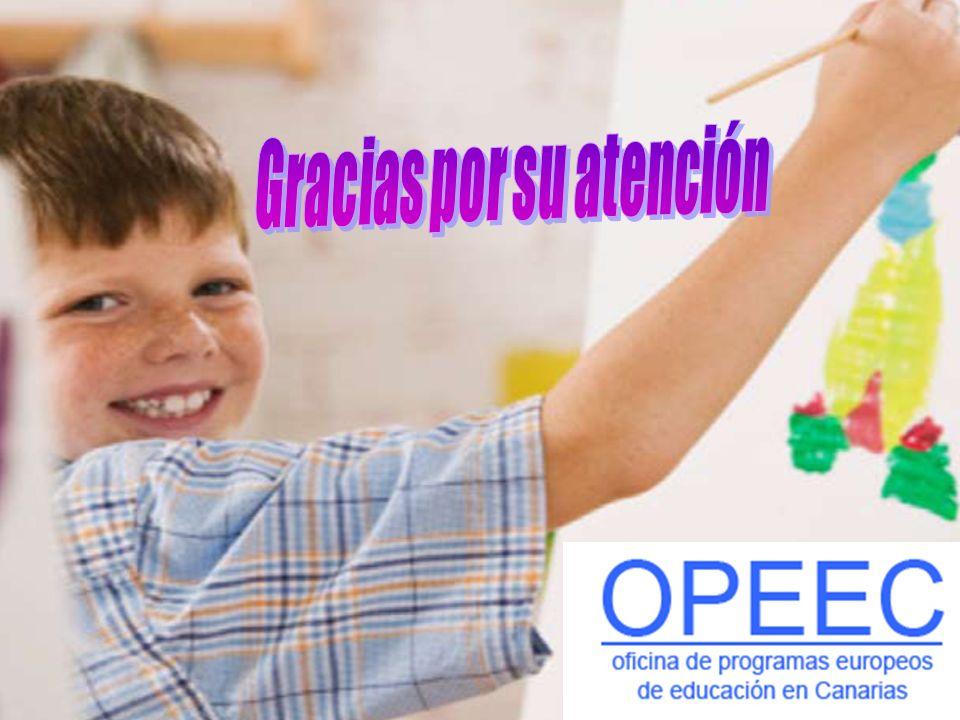 OPEEC - CANARIAS GRUNDTVIG Acciones descentralizadas: Asociaciones de aprendizaje Acogida de Ayudantes Grundtvig Formación Continua Visitas preparatorias Visitas e intercambios Asistencia a Seminarios