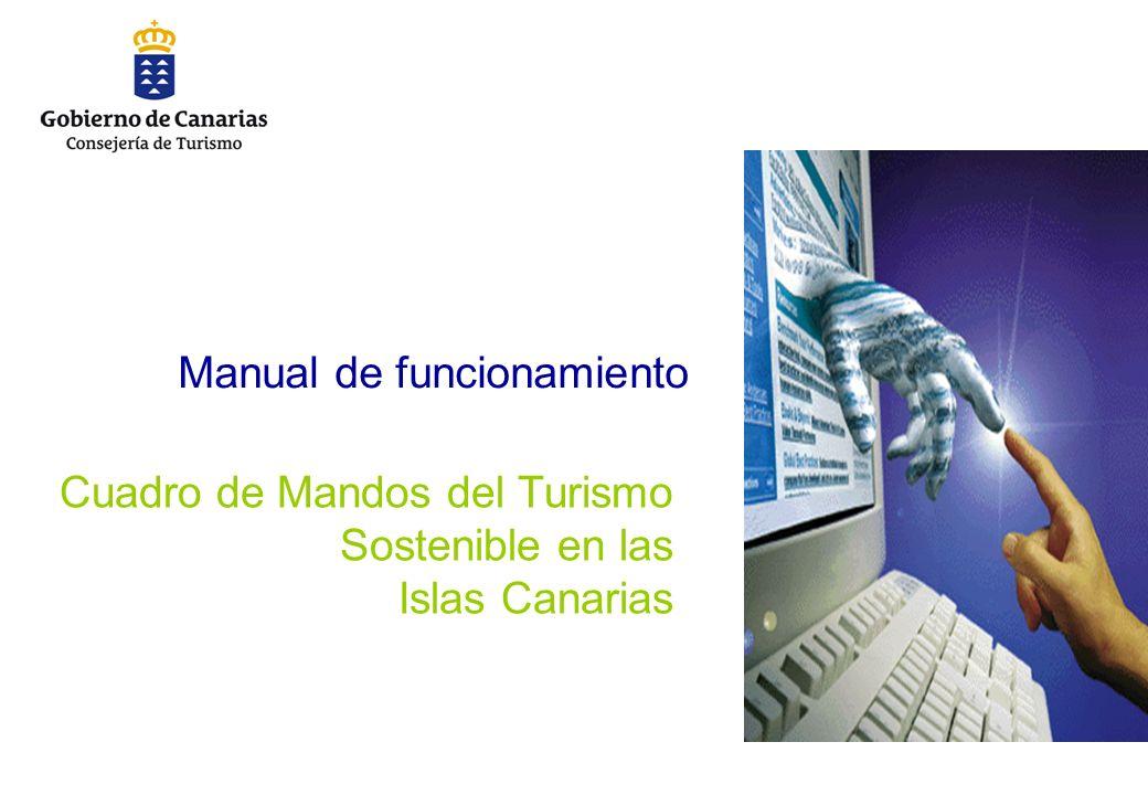 Manual de funcionamiento Cuadro de Mandos del Turismo Sostenible en las Islas Canarias
